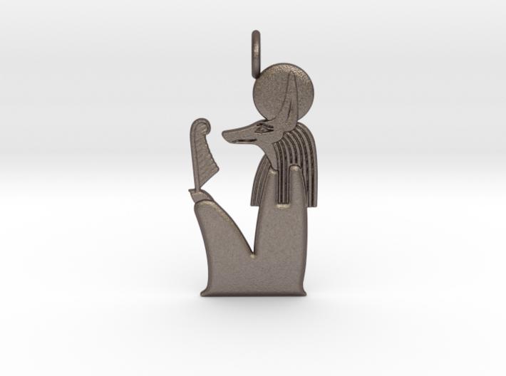 Solar Anubis amulet 3d printed