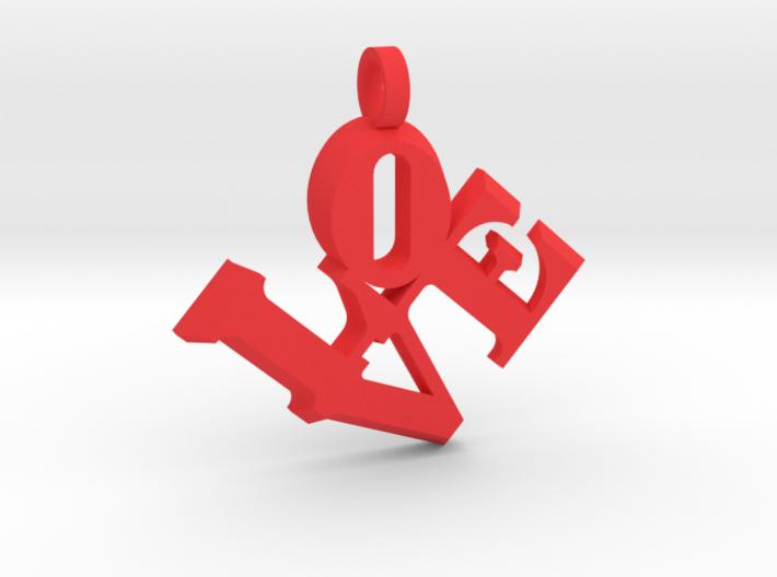 Love Sculpture pendant key fob 3d printed
