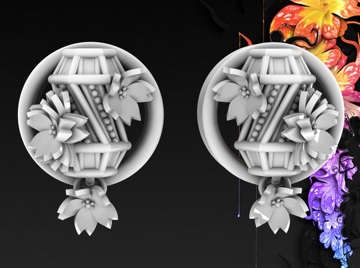 1 Inch Hanging Asian Lantern 3d printed Available in multiple colors and sizes.