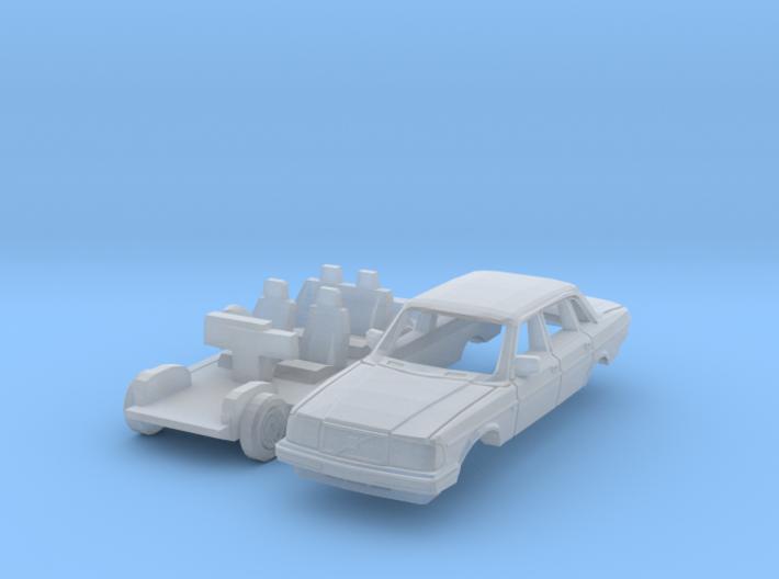 Volvo 240 Saloon (British N 1:148) 3d printed