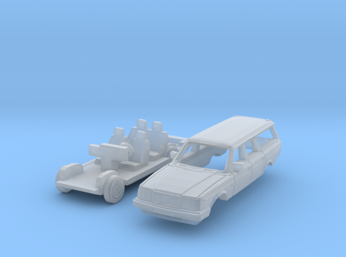 Volvo 240 Estate (TT 1:120) 3d printed
