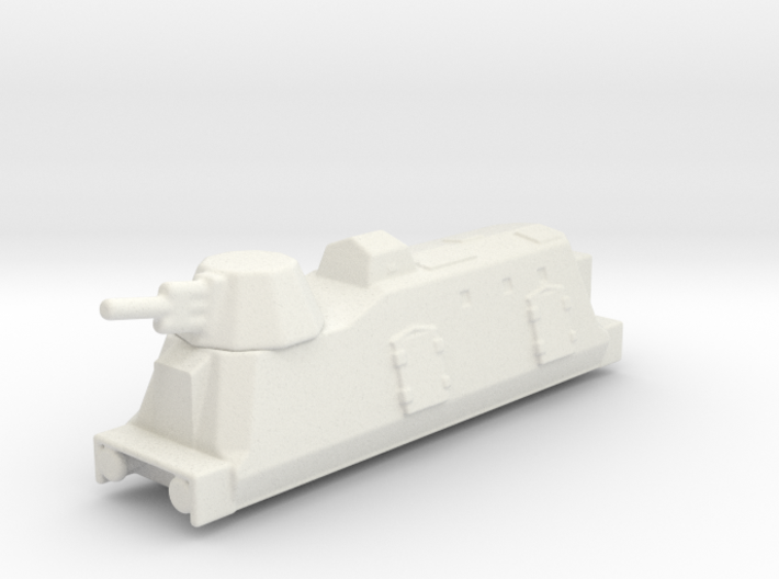 Panzerzüge artileriewagon armored train 2 1/144 3d printed