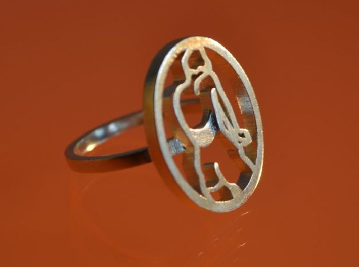 Zegelring20mm 3d printed printed silver ring
