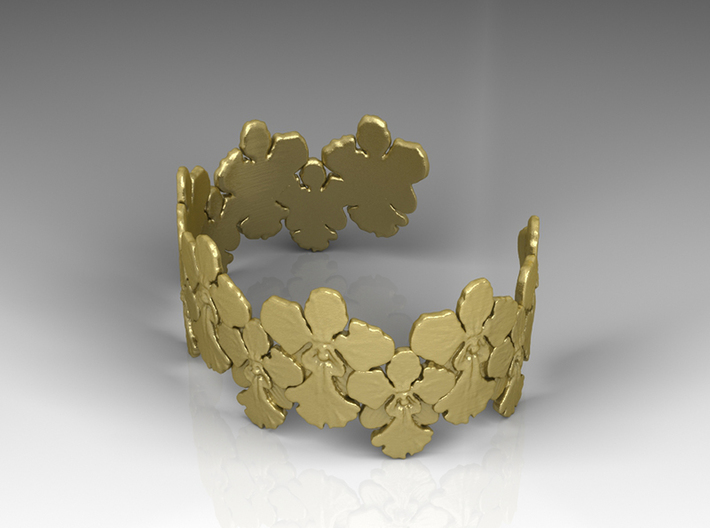 Orchid Bangle [ Size S ] 3d printed Visualization