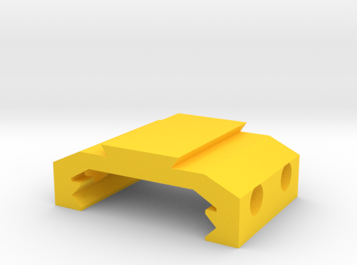 Picatinny to Dovetail Rail Adapter (2 Slots) 3d printed