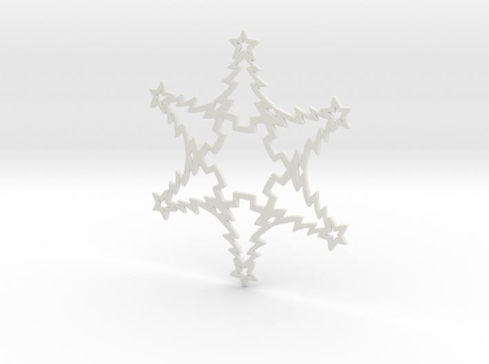 Christmas Tree Snowflake Ornament 3d printed