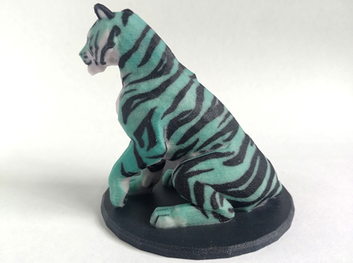 Tiger 3d printed right side view of 3D print