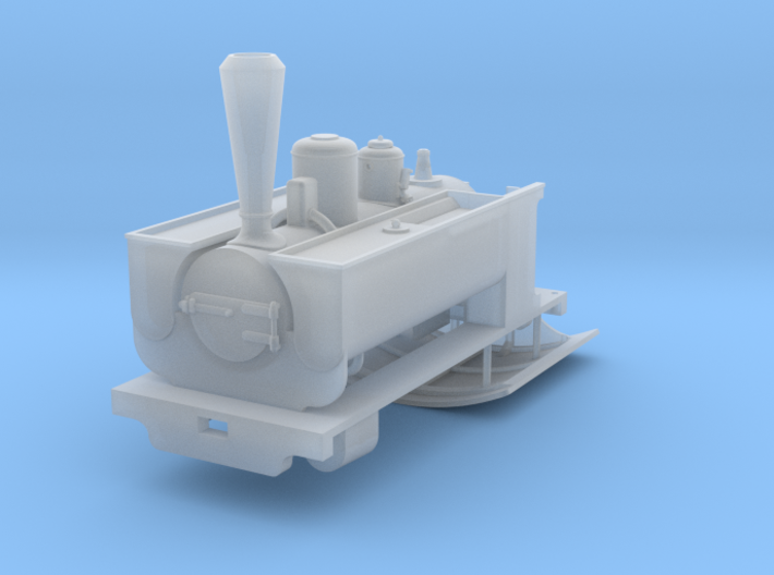 Couillet/Decauville 2.5t With Parasol Cab for O9/O 3d printed