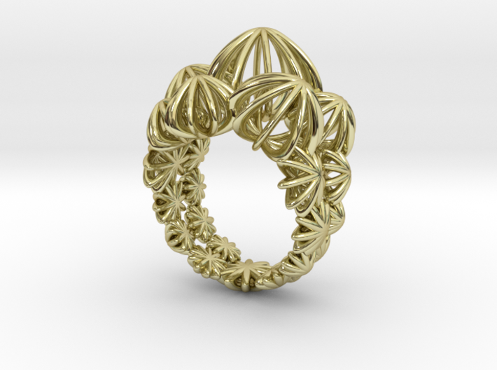 Sea Urchin Ring 3d printed