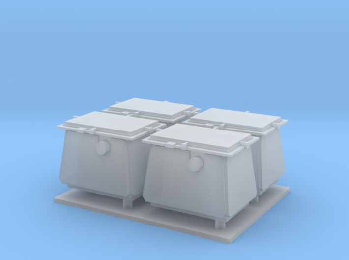 1/96 scale Modern Ammo Boxes 3d printed