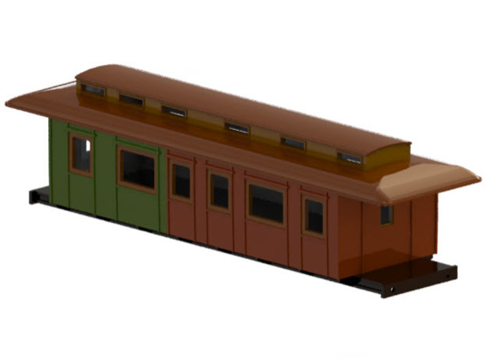 BC3 - Swedish passenger wagon 3d printed CAD-model