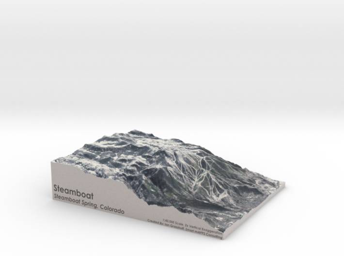 """Steamboat, Colorado - Winter: 8"""" x 10"""" 3d printed"""