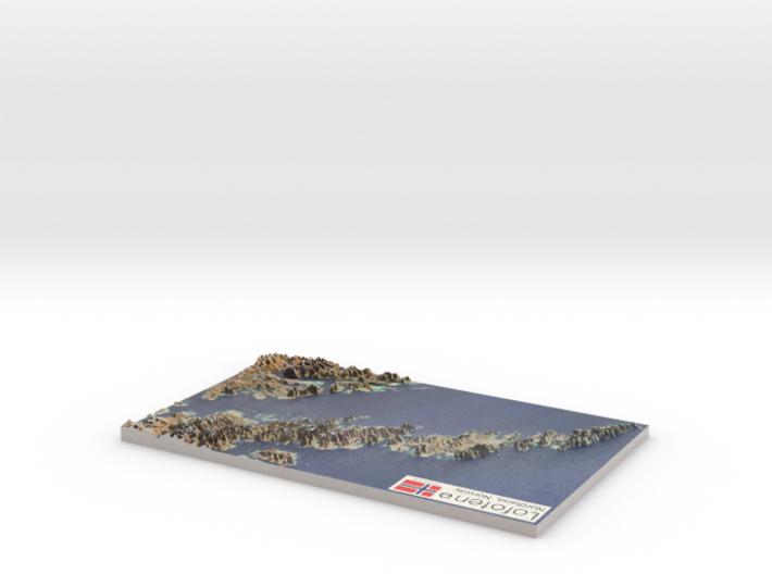 """Lofoten, Norway Map: 8.5""""x14"""" 3d printed"""