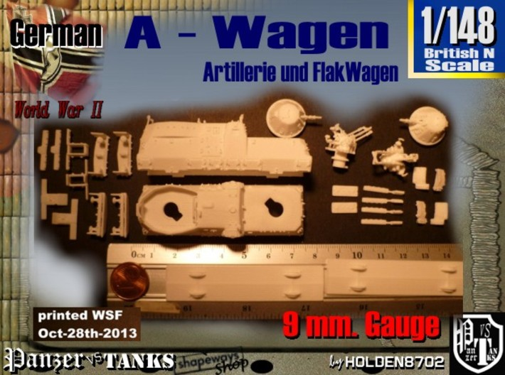 1-148 A-Wagen For BP-42 3d printed