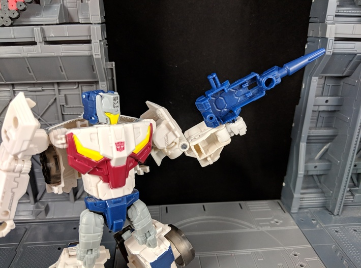 Replacement Hand Set for TF TR Chromedome Getaway 3d printed Works with Weapons