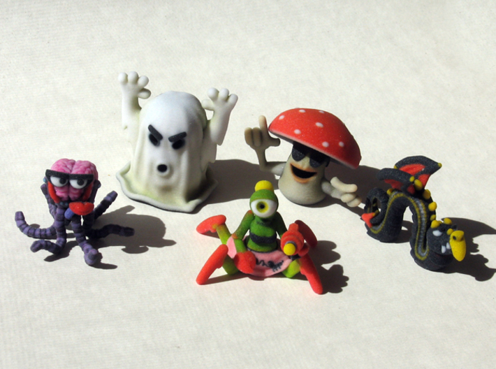 2 Inch Monsters: Batch 05 3d printed