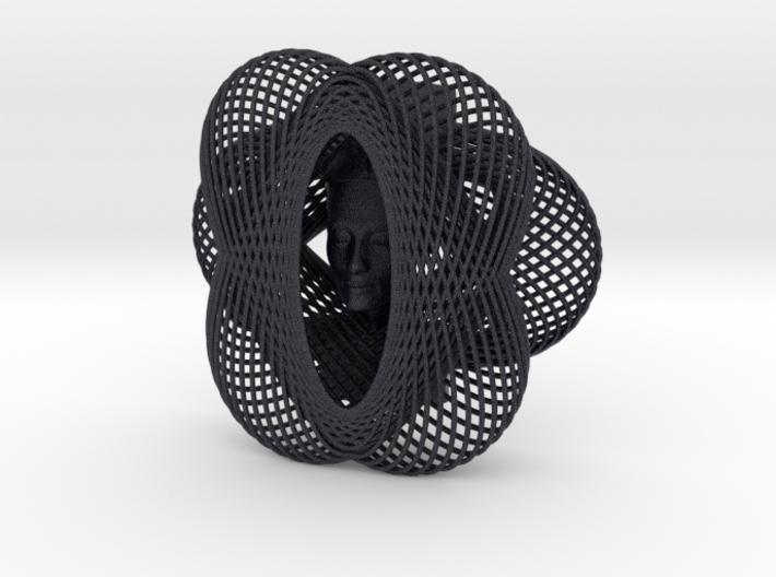 Enneper Curve Art + Nefertiti (001a) 3d printed