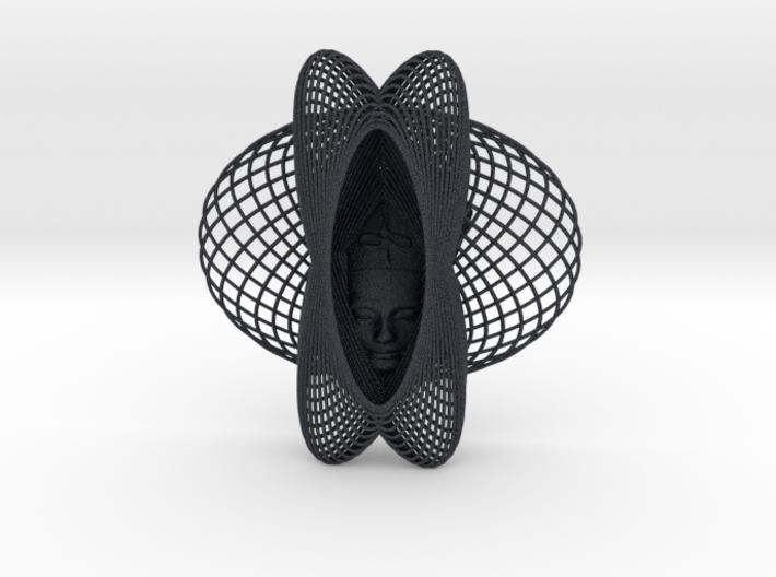 Enneper Curve Art + Nefertiti (001c) 3d printed
