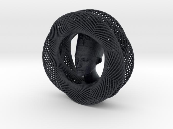 Celtic Knot Curve Art + Nefertiti (001a) 3d printed