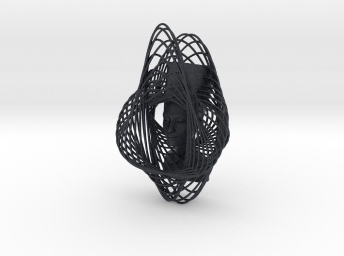 Enneper Curve Art + Nefertiti (002b) 3d printed