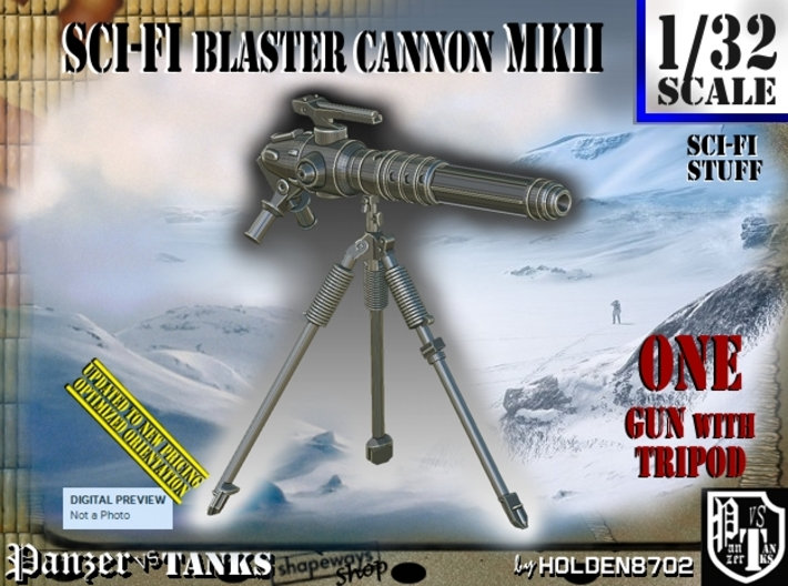 1/32 Sci-Fi Blaster Cannon MkII Set001 3d printed