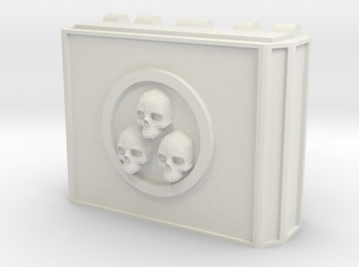 MK1 Weapon pod Main housing (triple skull) 3d printed