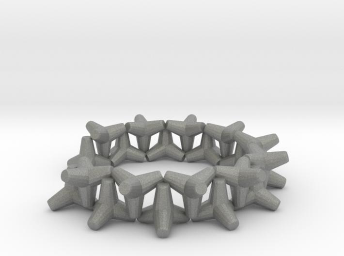 tetrapod cuff bracelet 3d printed