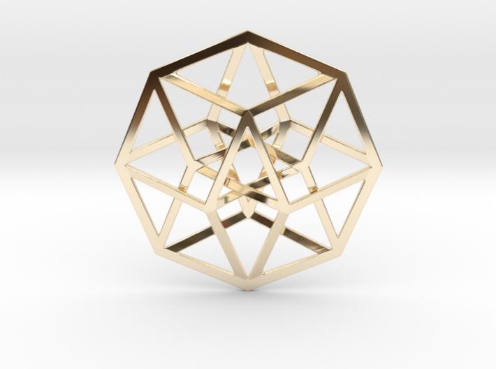 4D Hypercube (Tesseract) 3d printed
