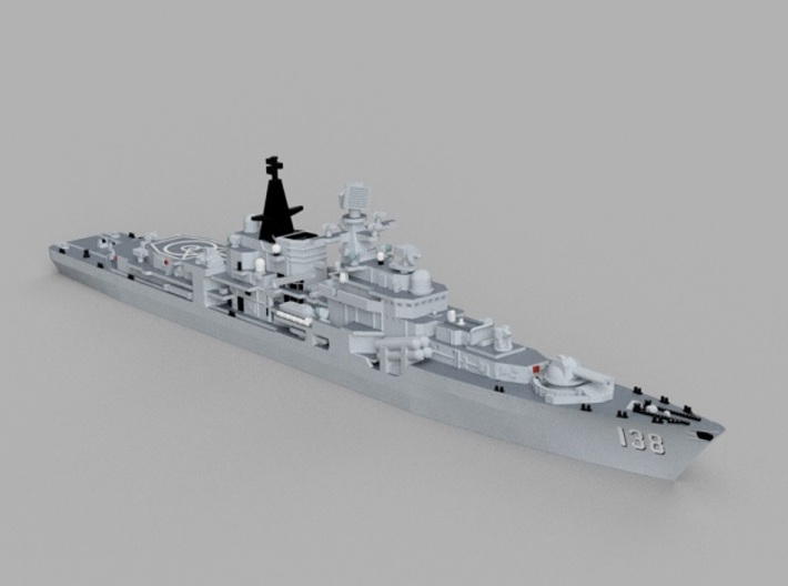 1/2000 CNS Taizhou 3d printed Computer software render.The actual model is not full color.