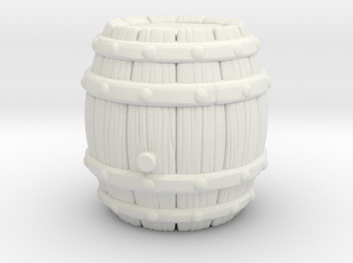 Barrel Stylized A 3d printed