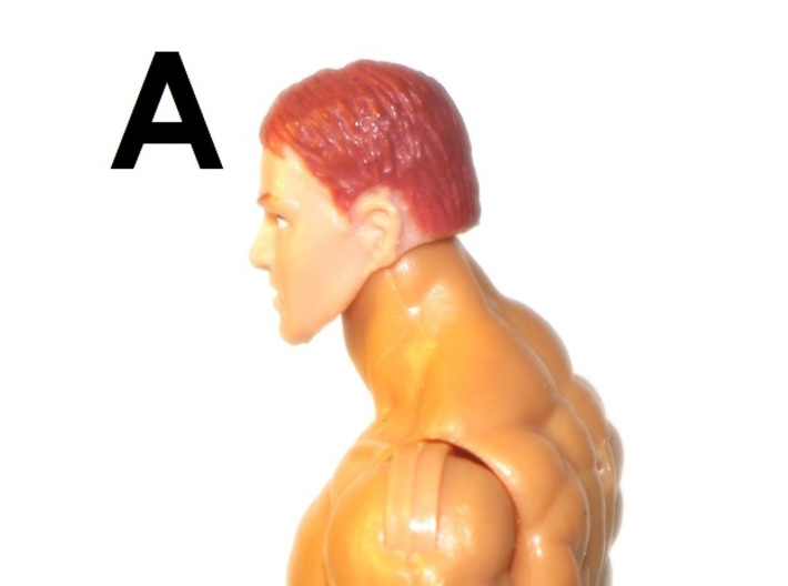 """1:18 Scale Action Figure MALE Neck Barbell Adapter 3d printed Peg """"A"""" Sample"""