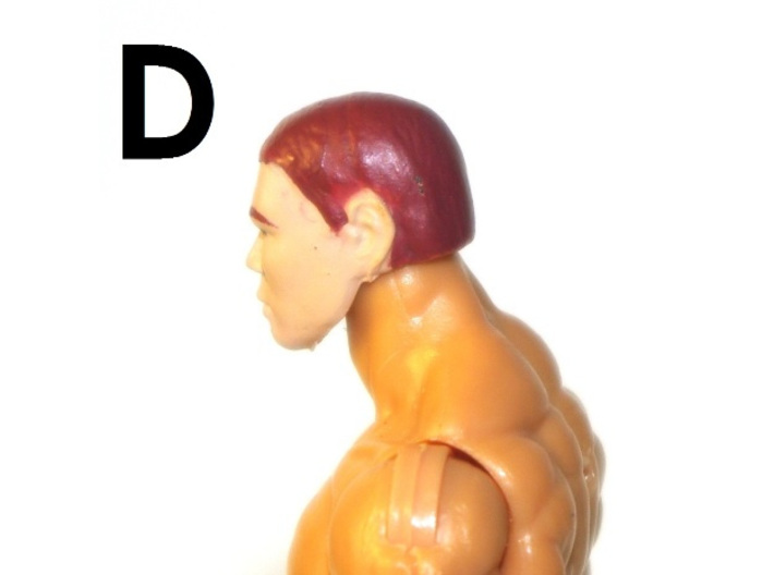 """1:18 Scale Action Figure MALE Neck Barbell Adapter 3d printed Peg """"D"""" Sample"""