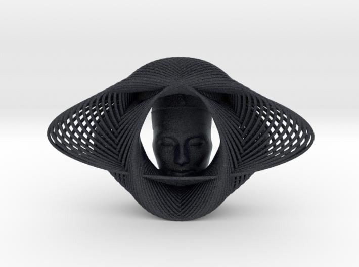 Wire Curve Art + Nefertiti (001b) 3d printed