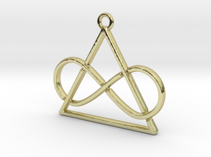 Infinite and triangle intertwined 3d printed