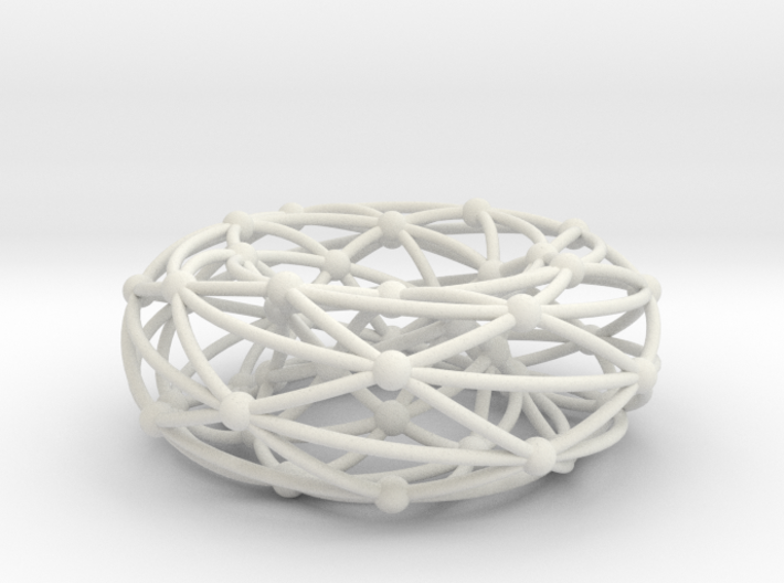 Shrikhande graph on torus 3d printed