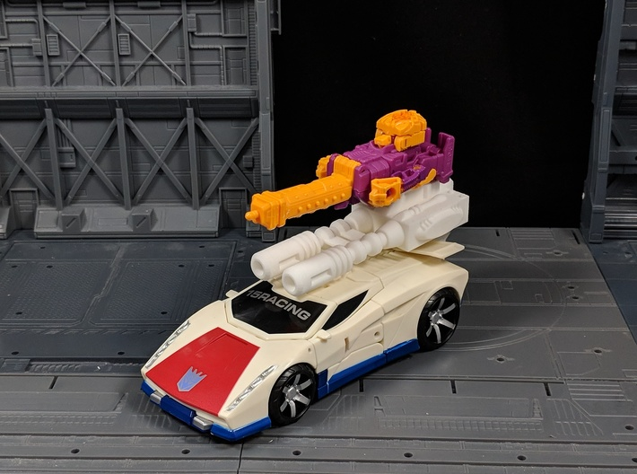 TF Combiner Wars Breakdown Car Cannon 3d printed Top port allows for Attaching Weapons
