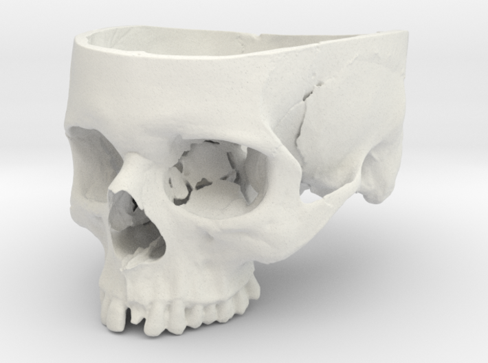 Human Skull Bowl (Life Size) 3d printed