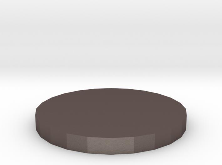 "1"" Circular Miniature Base Plate 3d printed"