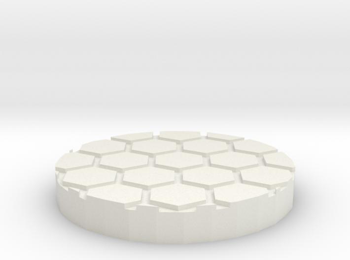 "Honeycomb 1"" Circular Miniature Base Plate 3d printed"
