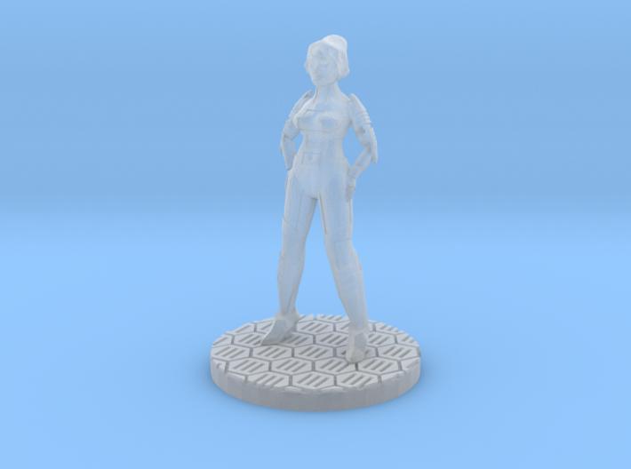 Female Starfarer Miniature (28mm Scale) 3d printed
