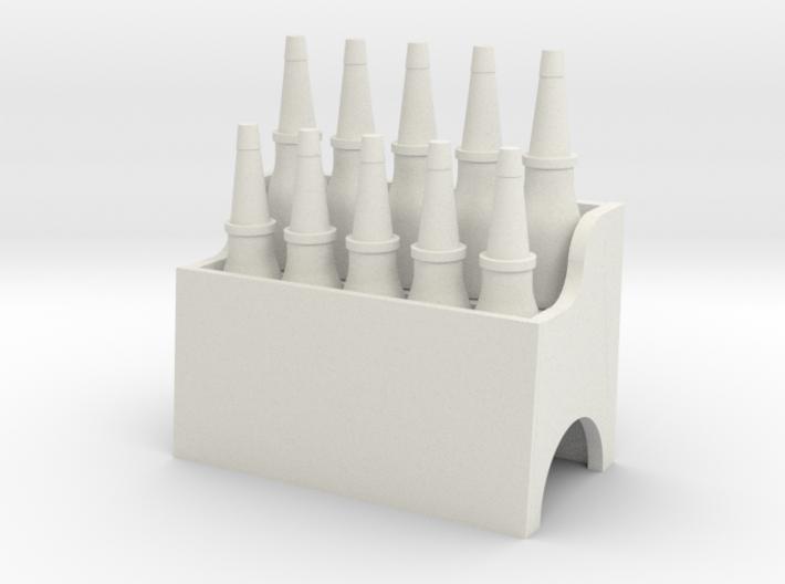 RC Garage Oil Bottle Rack 1:24 Scale 3d printed