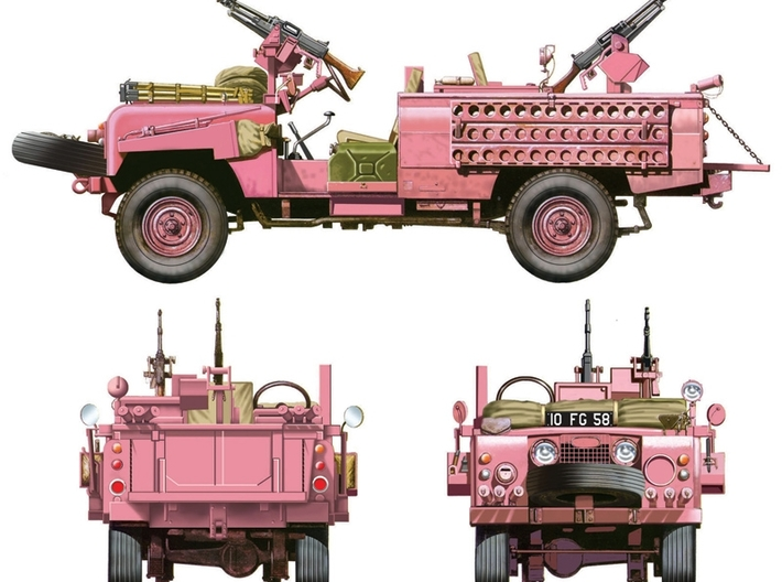"Sand ladder 130mm/5.1"" Land rover SAS Pink Panther 3d printed"