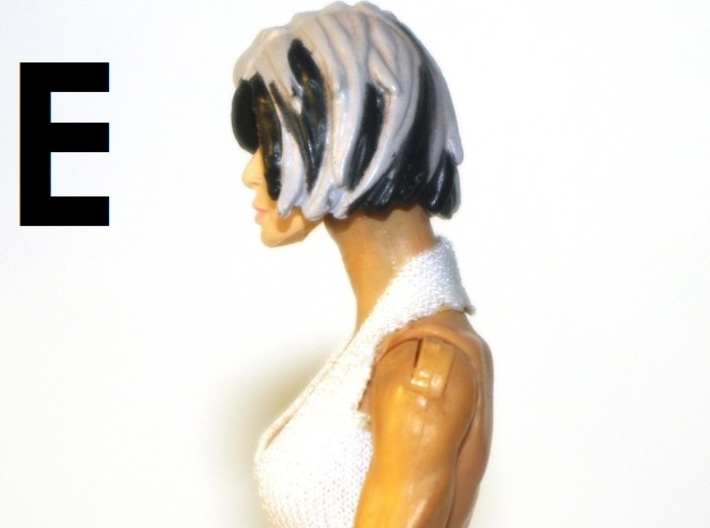 """1:18 Scale Action Figure FEMALE Neck Barbell Adapt 3d printed Peg """"E"""" Sample"""