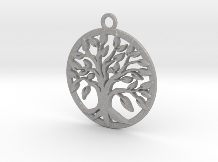 Tree of life and circle intertwined 3d printed
