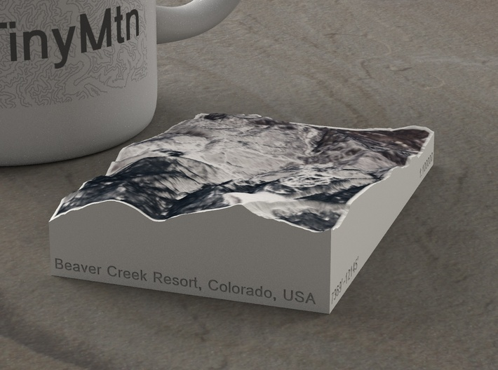 Beaver Creek Resort, Colorado, USA, 1:100000 3d printed