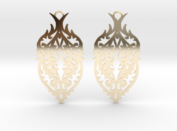 Thorn earrings 3d printed