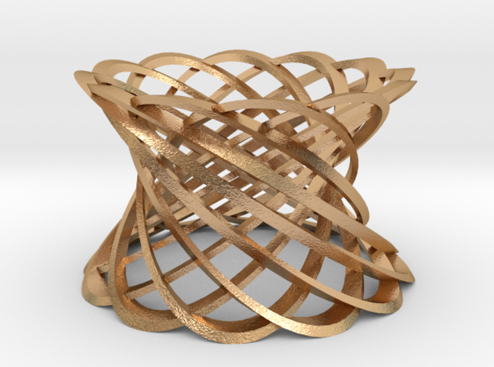 12 Twisted strips-bronze 3d printed
