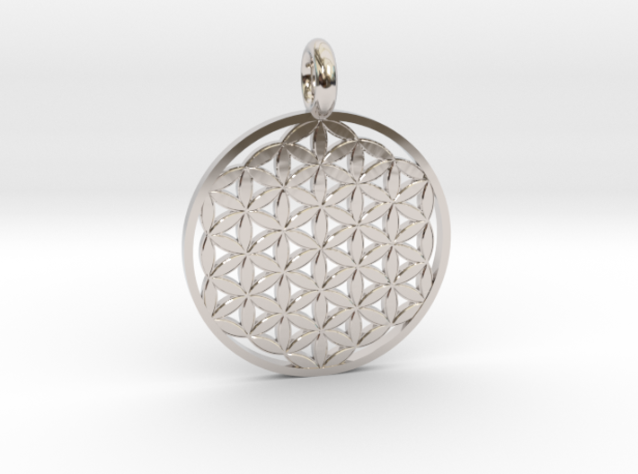 Flower of Life Sacred Geometry pendant approx 22mm 3d printed