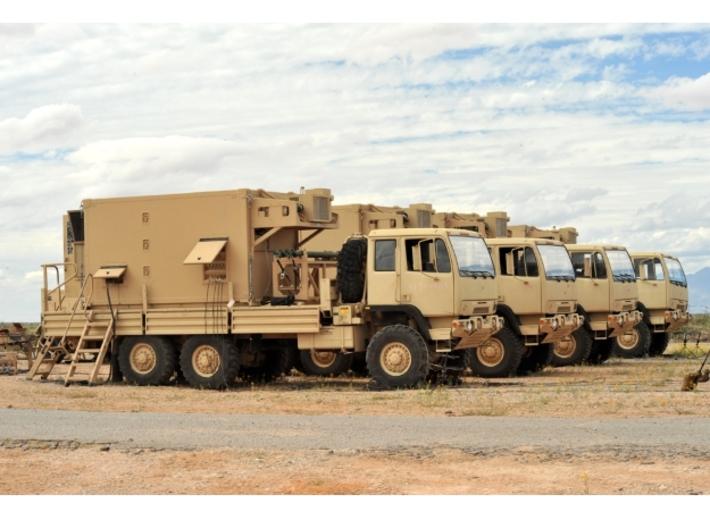 THAAD Missile  Deployment Set 3d printed Fire Control and Communications Vehicles
