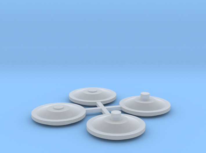 NZR Inspection Railcar hubcaps 1:120 3d printed